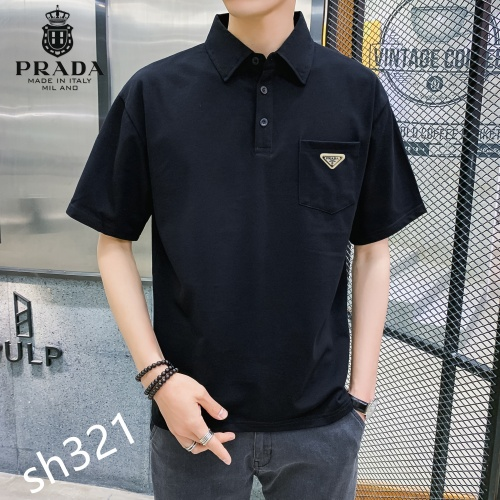 Replica Prada T-Shirts Short Sleeved For Men #850642 $29.00 USD for Wholesale