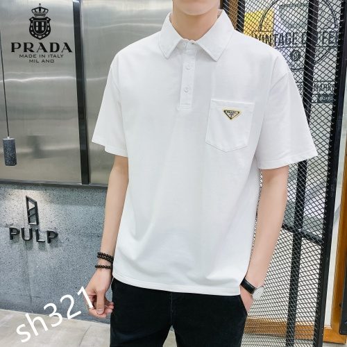 Prada T-Shirts Short Sleeved For Men #850643 $29.00 USD, Wholesale Replica Prada T-Shirts