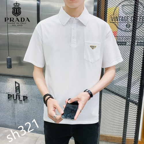 Replica Prada T-Shirts Short Sleeved For Men #850643 $29.00 USD for Wholesale