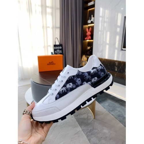 Replica Hermes Casual Shoes For Men #850686 $76.00 USD for Wholesale