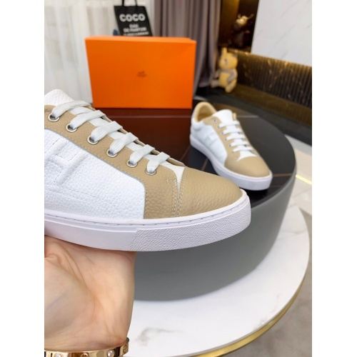 Replica Hermes Casual Shoes For Men #850704 $76.00 USD for Wholesale