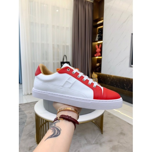Replica Hermes Casual Shoes For Men #850705 $76.00 USD for Wholesale