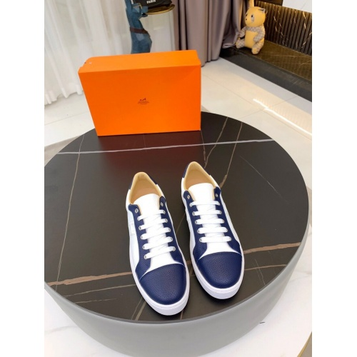 Replica Hermes Casual Shoes For Men #850706 $76.00 USD for Wholesale