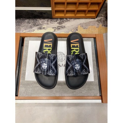 Replica Versace Slippers For Men #850747 $52.00 USD for Wholesale