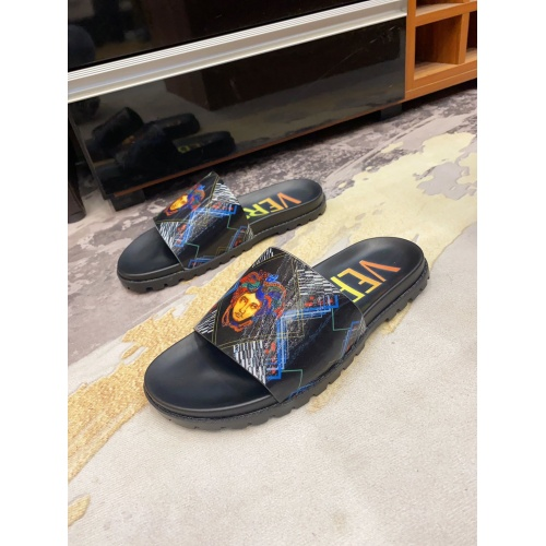 Versace Slippers For Men #850748 $52.00 USD, Wholesale Replica Versace Slippers