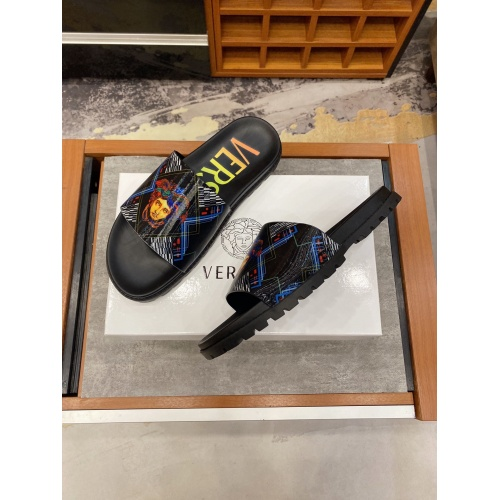 Replica Versace Slippers For Men #850748 $52.00 USD for Wholesale