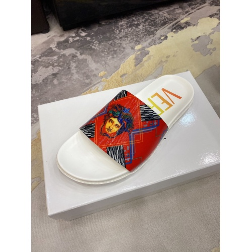 Replica Versace Slippers For Men #850749 $52.00 USD for Wholesale