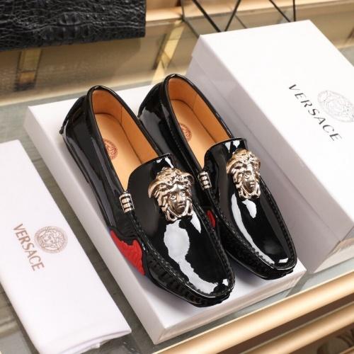 Versace Leather Shoes For Men #850804 $82.00 USD, Wholesale Replica Versace Leather Shoes