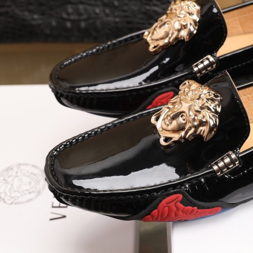 Replica Versace Leather Shoes For Men #850804 $82.00 USD for Wholesale