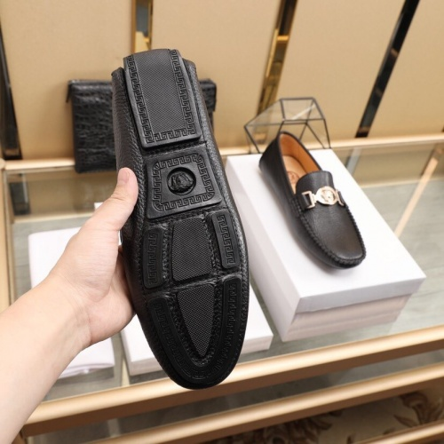 Replica Versace Leather Shoes For Men #850805 $85.00 USD for Wholesale