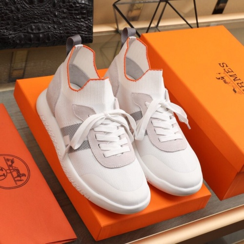 Replica Hermes Casual Shoes For Men #851658 $88.00 USD for Wholesale
