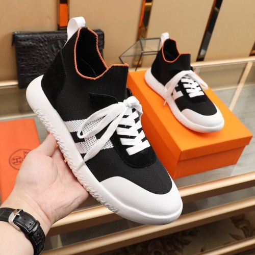 Replica Hermes Casual Shoes For Men #851660 $88.00 USD for Wholesale
