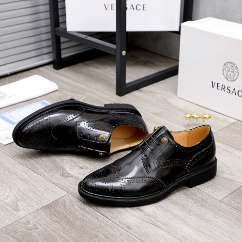 Replica Versace Leather Shoes For Men #851868 $100.00 USD for Wholesale
