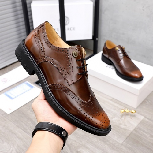 Replica Versace Leather Shoes For Men #851869 $100.00 USD for Wholesale