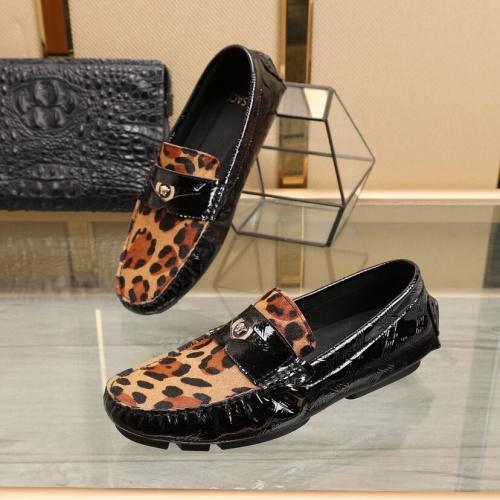 Versace Leather Shoes For Men #851898 $85.00 USD, Wholesale Replica Versace Leather Shoes