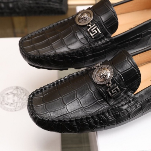 Replica Versace Leather Shoes For Men #851900 $85.00 USD for Wholesale