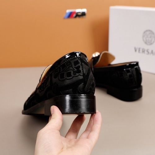 Replica Versace Leather Shoes For Men #851938 $92.00 USD for Wholesale