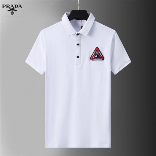 Prada T-Shirts Short Sleeved For Men #852118 $38.00 USD, Wholesale Replica Prada T-Shirts