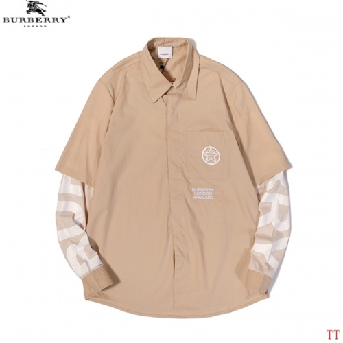 Burberry Shirts Long Sleeved For Men #852529 $45.00 USD, Wholesale Replica Burberry Shirts