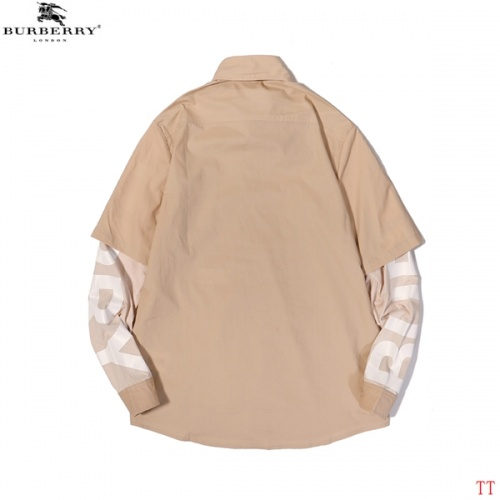 Replica Burberry Shirts Long Sleeved For Men #852529 $45.00 USD for Wholesale