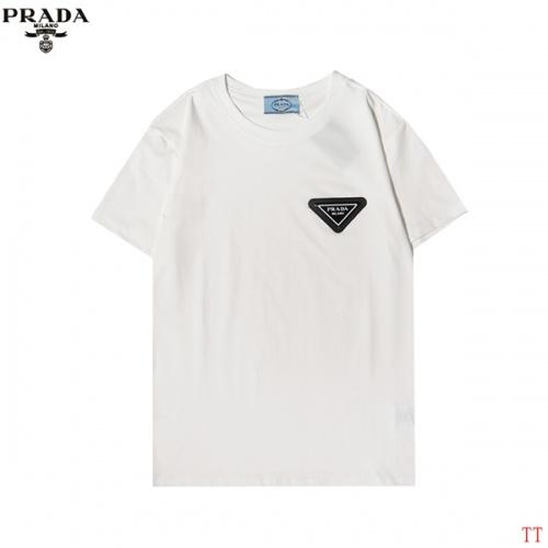 Prada T-Shirts Short Sleeved For Men #852975 $27.00 USD, Wholesale Replica Prada T-Shirts