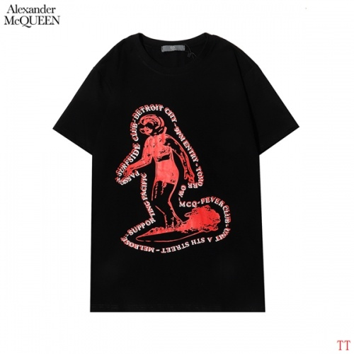 Alexander McQueen T-shirts Short Sleeved For Men #852996