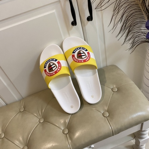Replica Tommy Hilfiger TH Slippers For Men #853211 $43.00 USD for Wholesale