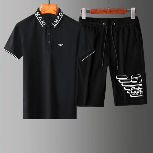 Armani Tracksuits Short Sleeved For Men #853785