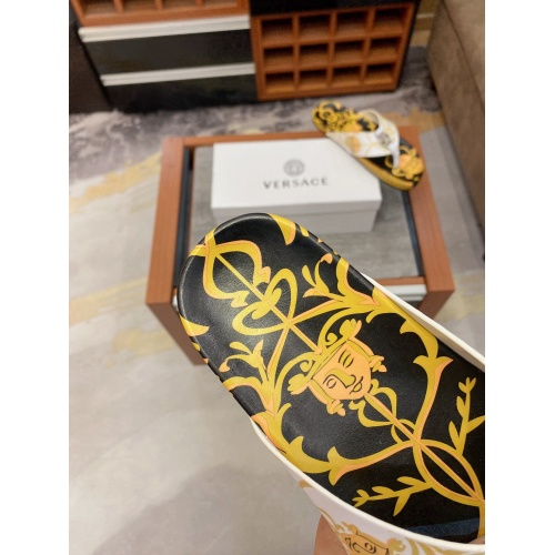 Replica Versace Slippers For Men #854062 $56.00 USD for Wholesale