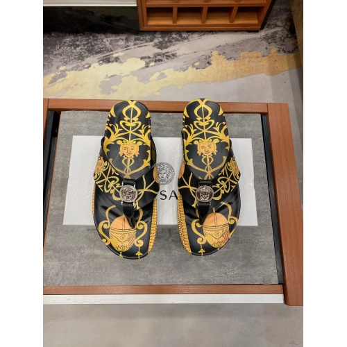 Versace Slippers For Men #854063 $56.00 USD, Wholesale Replica Versace Slippers