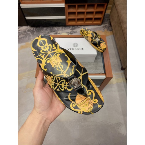 Replica Versace Slippers For Men #854063 $56.00 USD for Wholesale