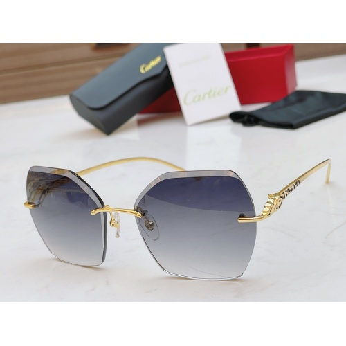 Cartier AAA Quality Sunglasses #854336