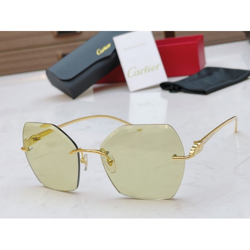 Cartier AAA Quality Sunglasses #854338