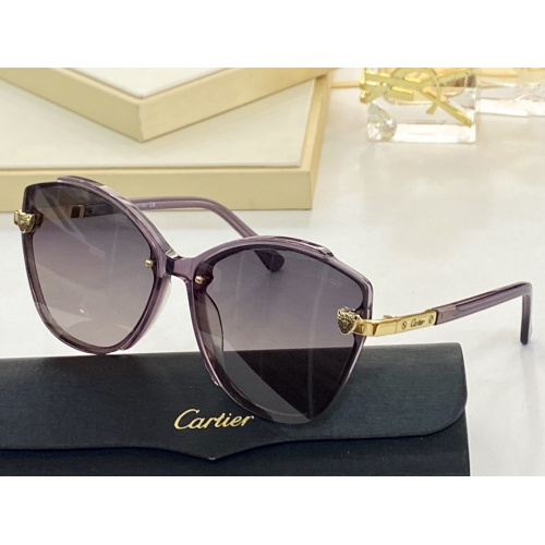 Cartier AAA Quality Sunglasses #854379