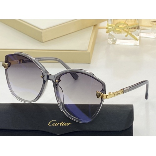Cartier AAA Quality Sunglasses #854380