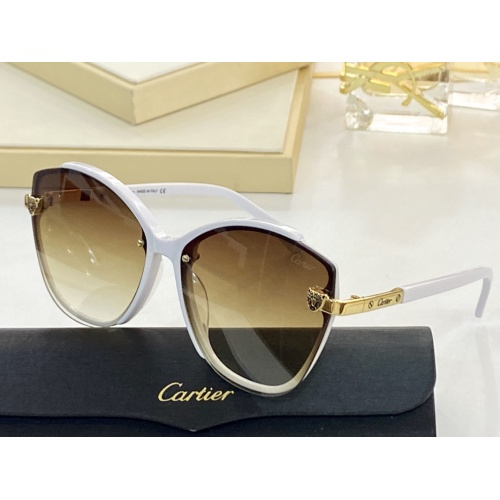 Cartier AAA Quality Sunglasses #854383
