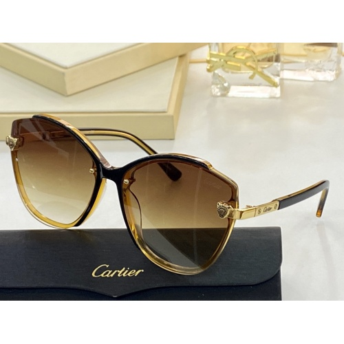 Cartier AAA Quality Sunglasses #854384