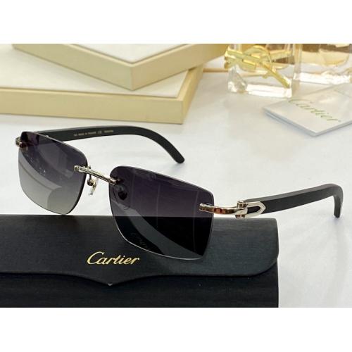 Cartier AAA Quality Sunglasses #854414