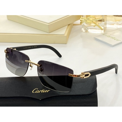 Cartier AAA Quality Sunglasses #854415