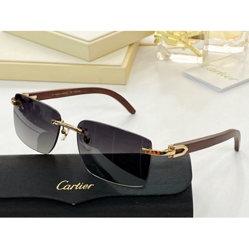 Cartier AAA Quality Sunglasses #854416