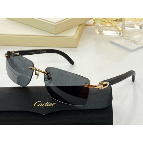 Cartier AAA Quality Sunglasses #854417
