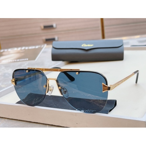 Cartier AAA Quality Sunglasses #854436