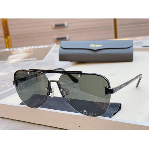 Cartier AAA Quality Sunglasses #854437