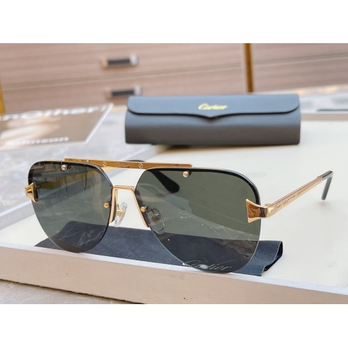 Cartier AAA Quality Sunglasses #854438