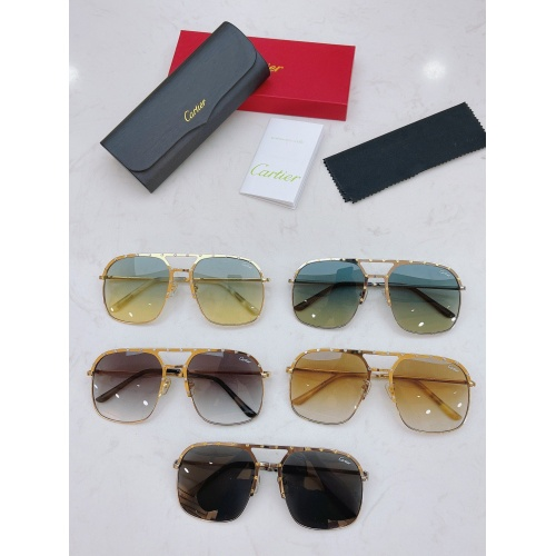 Replica Cartier AAA Quality Sunglasses #854453 $60.00 USD for Wholesale