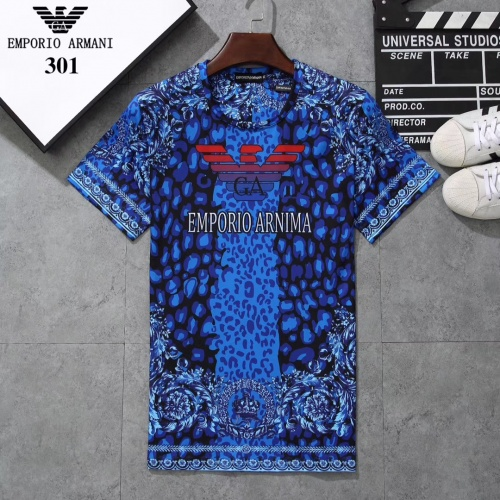 Armani T-Shirts Short Sleeved For Men #854784
