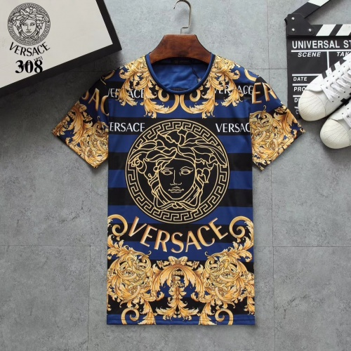 Versace T-Shirts Short Sleeved For Men #854800 $25.00 USD, Wholesale Replica Versace T-Shirts