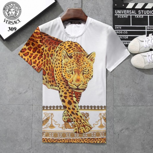 Versace T-Shirts Short Sleeved For Men #854802 $25.00 USD, Wholesale Replica Versace T-Shirts