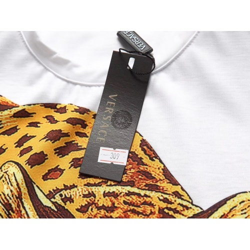 Replica Versace T-Shirts Short Sleeved For Men #854802 $25.00 USD for Wholesale