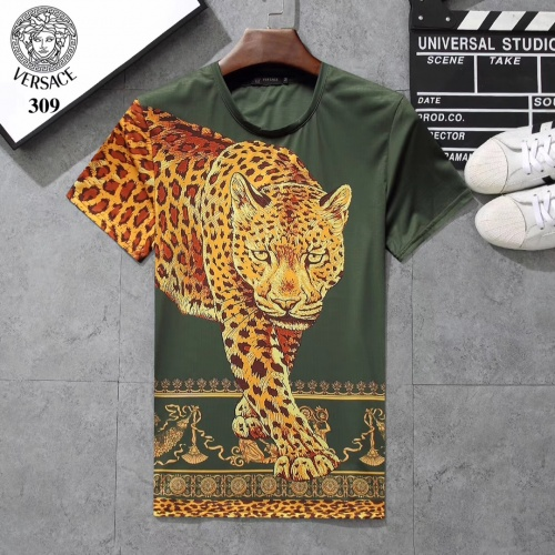 Versace T-Shirts Short Sleeved For Men #854803 $25.00 USD, Wholesale Replica Versace T-Shirts
